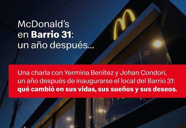 McDonald's conmemora su presencia en la compleja Villa 31 con un podcast
