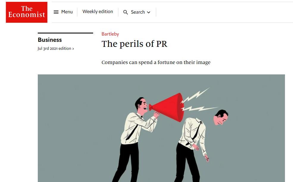 Enojadísimos, los RR.PP. con The Economist y su desubicada crítica a las PR