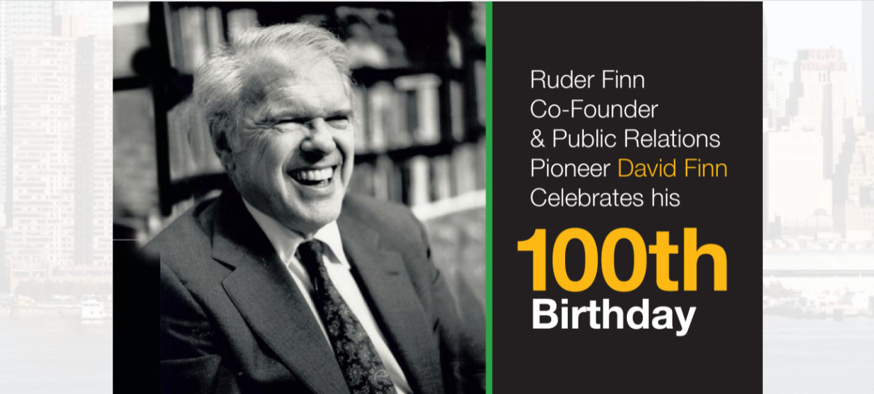 David Finn, uno de los padres de la consultoría en PR, cumplió cien años